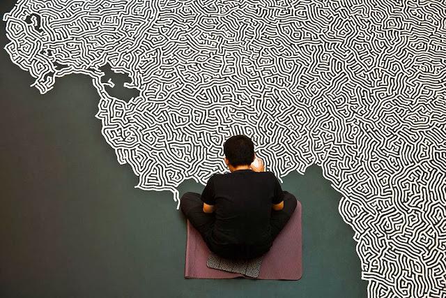 art contemporain le travail de l'artiste motoi yamamoto labyrinthe de sel sculpture de sel