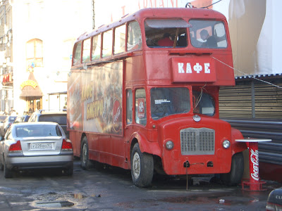 London Bus in Moscow