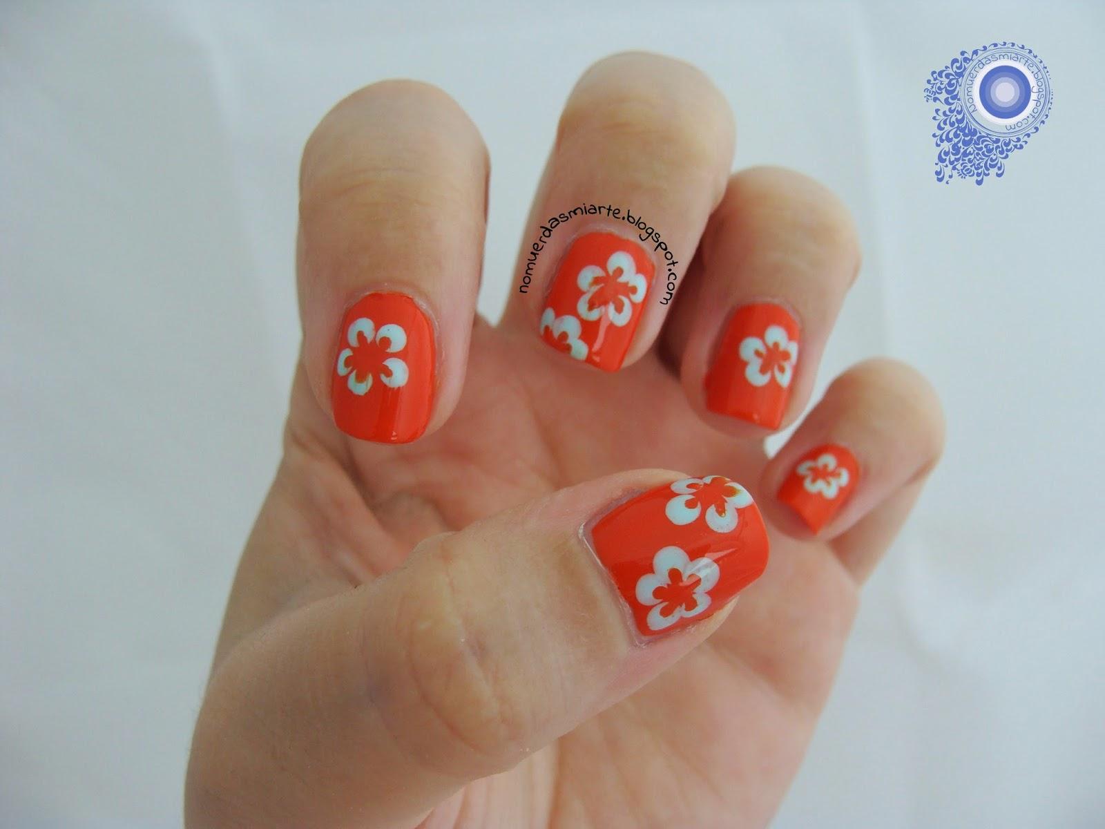 Manicura de flores