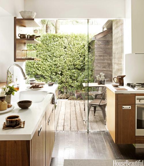 Fenster Holz Nach Ausen Offnend ~ Eine Küche verbindet Innen und Außen  Christine Oertel Interior
