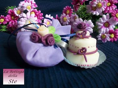 Bomboniere wedding cake ideali anche come segnaposto, per matrimonio comunione cresima battesimo