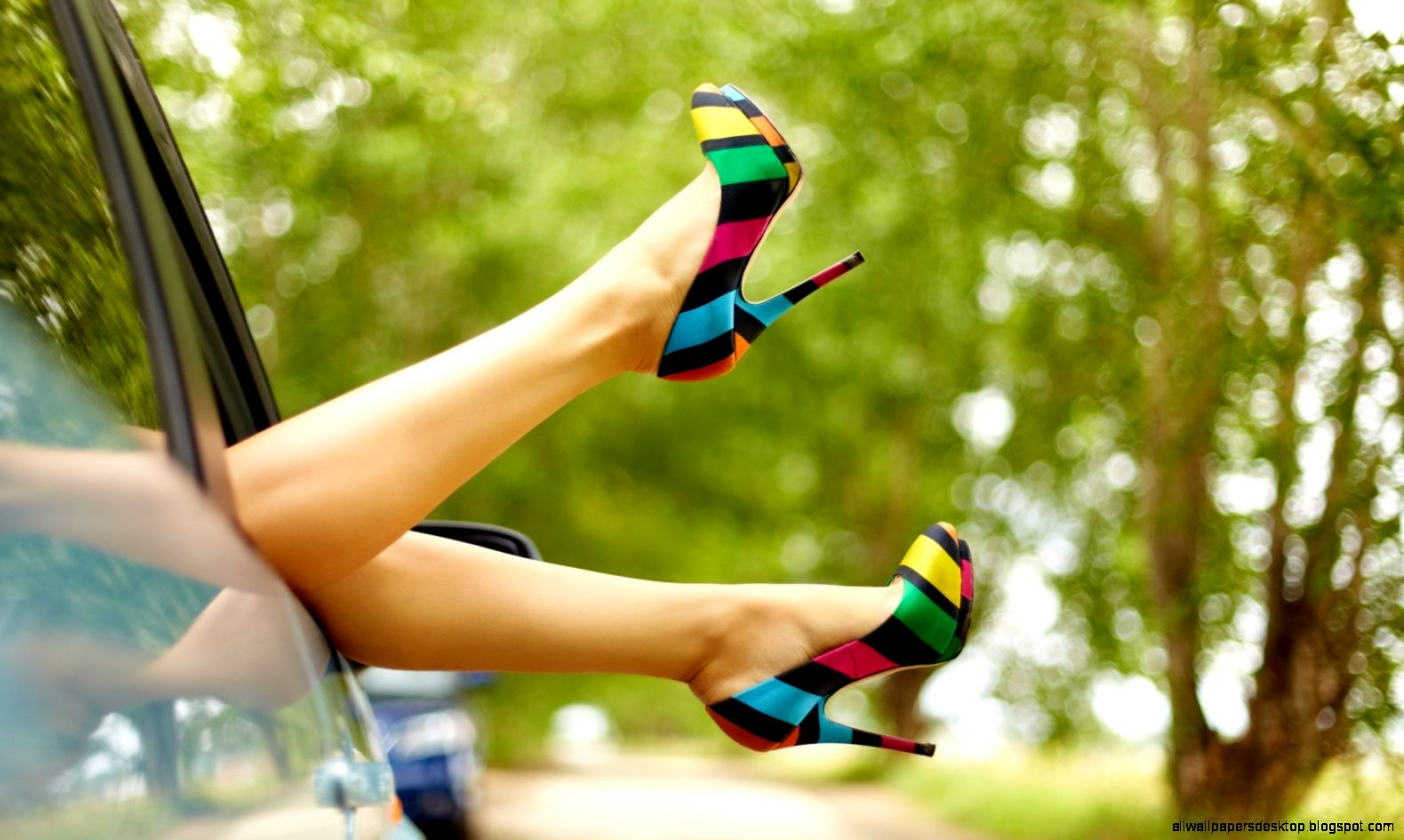 mood girl legs feet shoes car hd wallpaper    latest