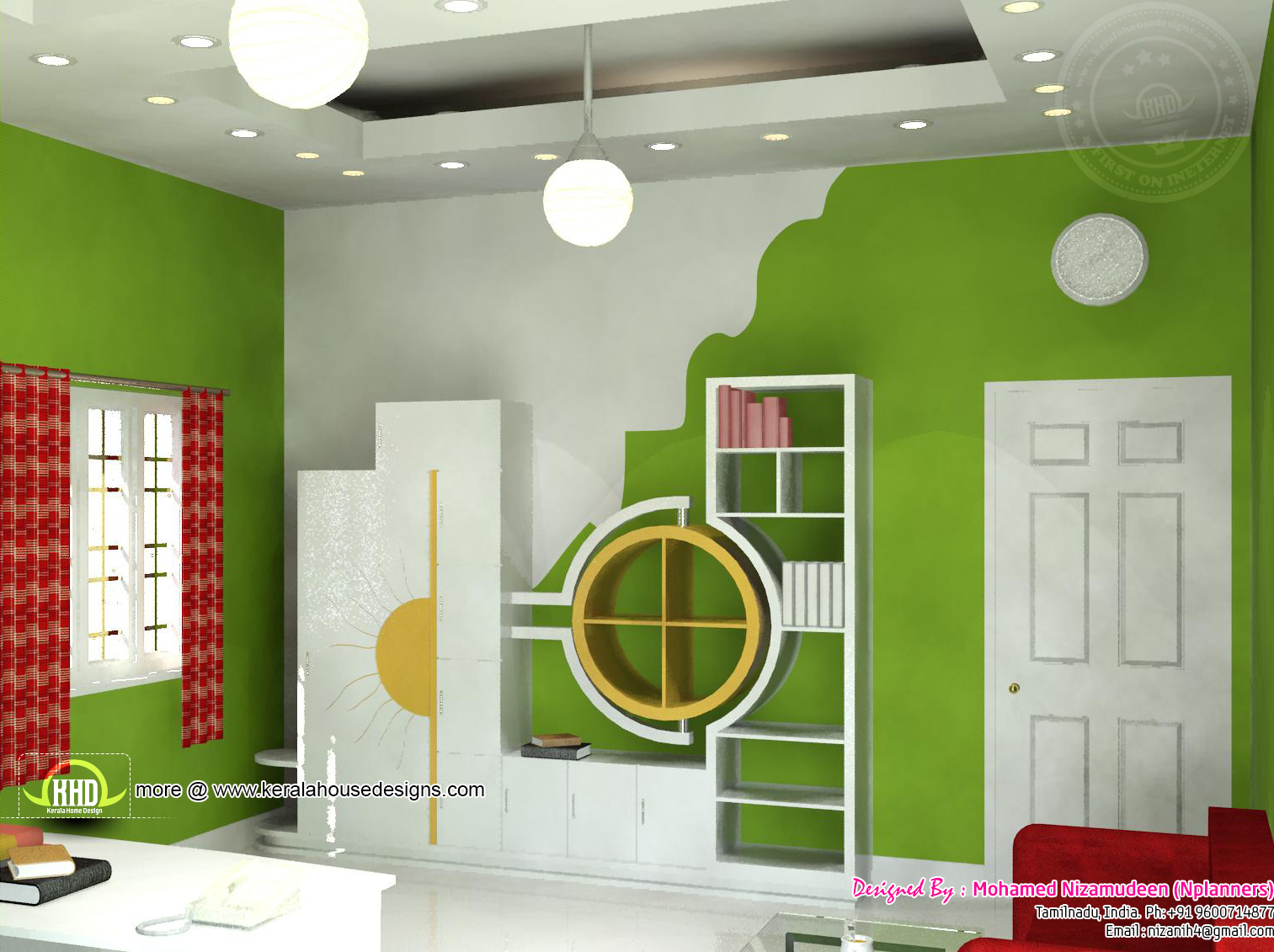 2334 sq ft south indian home design kerala home design for South indian house design