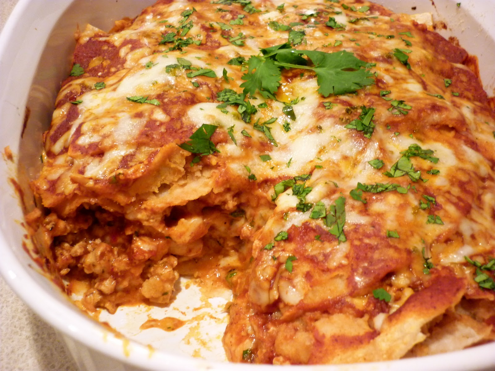 Turkey Enchiladas Casserole