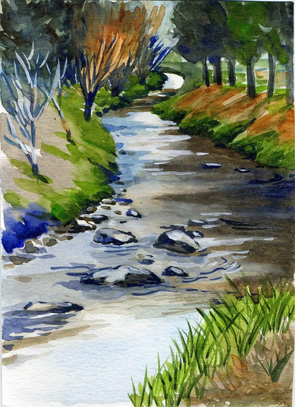 La rivière à Châteldon