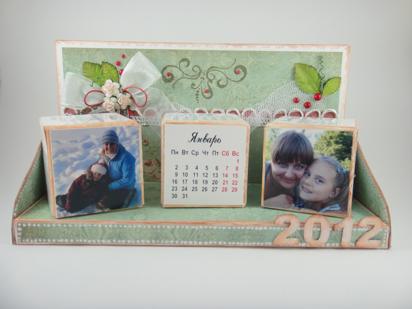 Подарок фото на календарь на