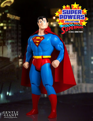 "DC Comics Super Powers Collection Superman 12"" Jumbo Vintage Action Figure by Gentle Giant"