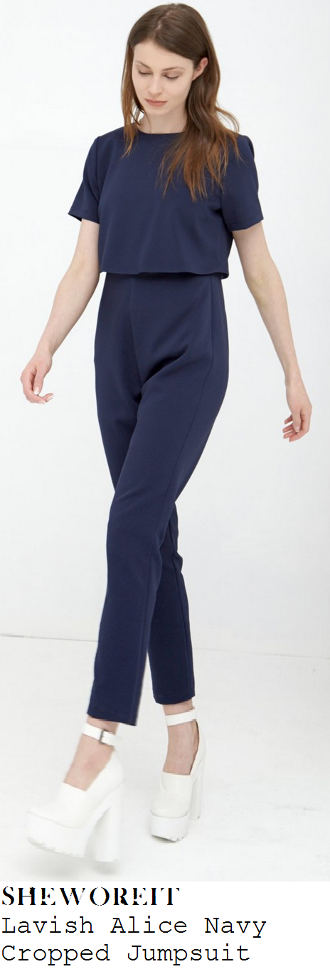 sam-faiers-navy-blue-short-sleeve-cropped-slim-leg-jumpsuit