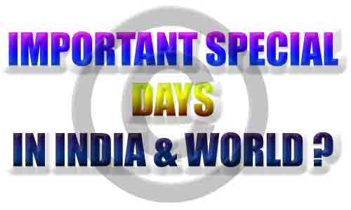 Important Days-Special Days-World-India
