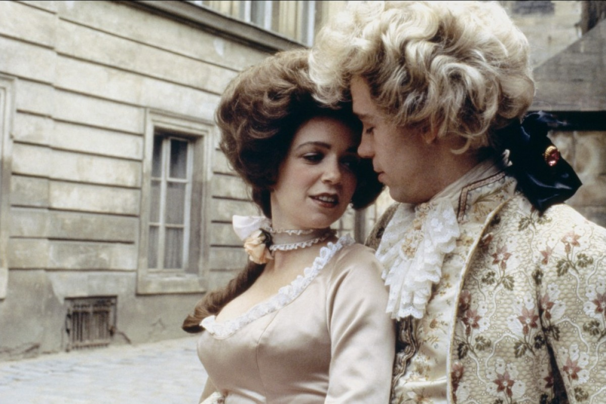 amadeus 1984 czech american filmmaker milos forman s musical tom hulce as mozart and elizabeth berridge as mozart s wife constanze in 1984 musical amadeus