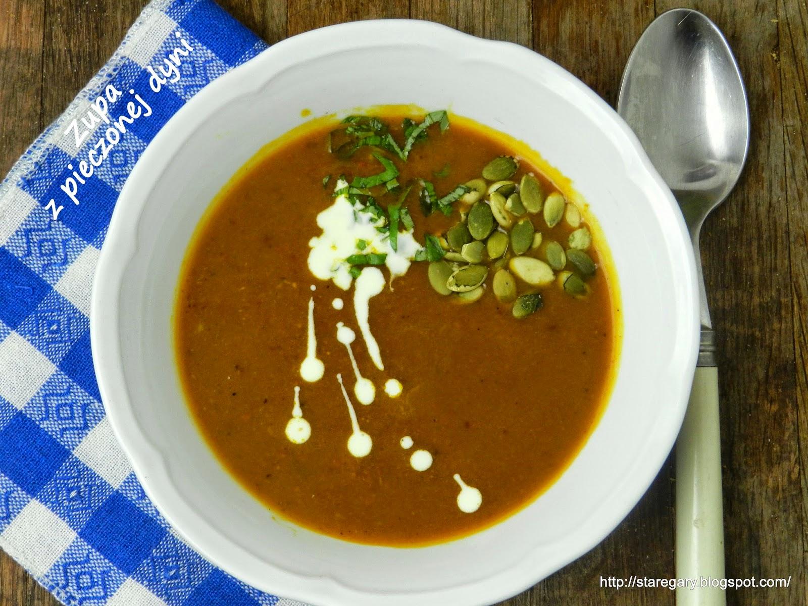 Zupa z pieczonej dyni Hokkaido