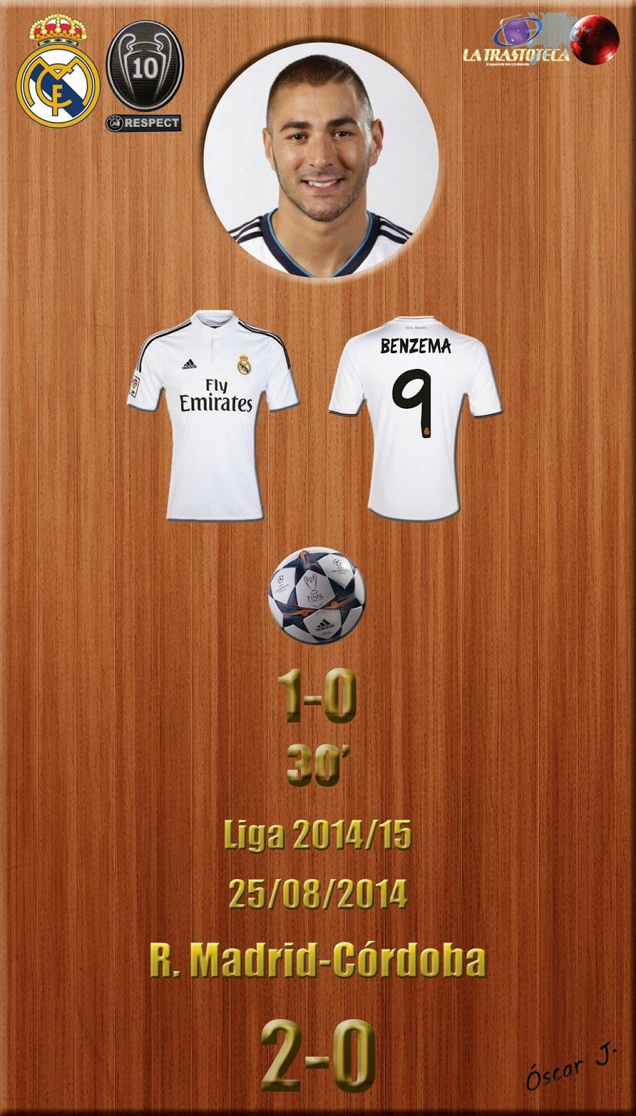 Karim Benzema (1-0) - Jornada 1 - 25/8/2014