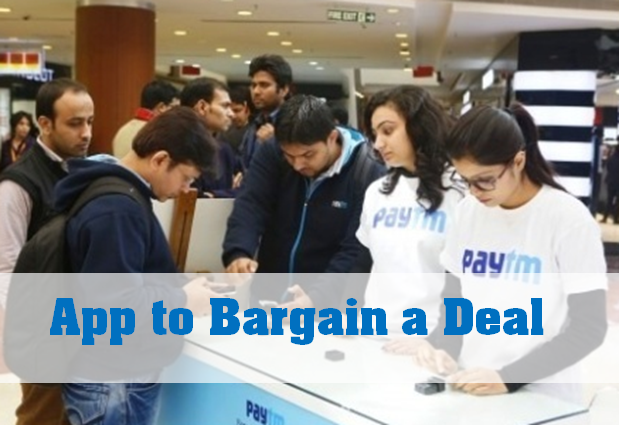 App to brgain a deal paytm