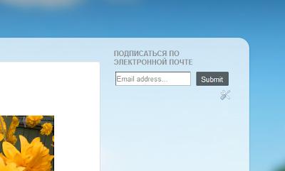 Гаджет подписки на e-mail