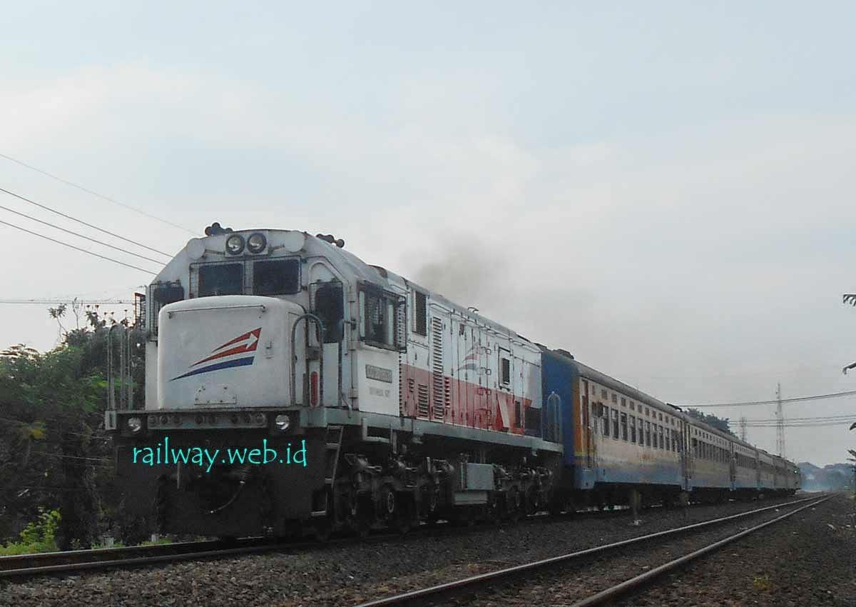 gambar kereta api brantas