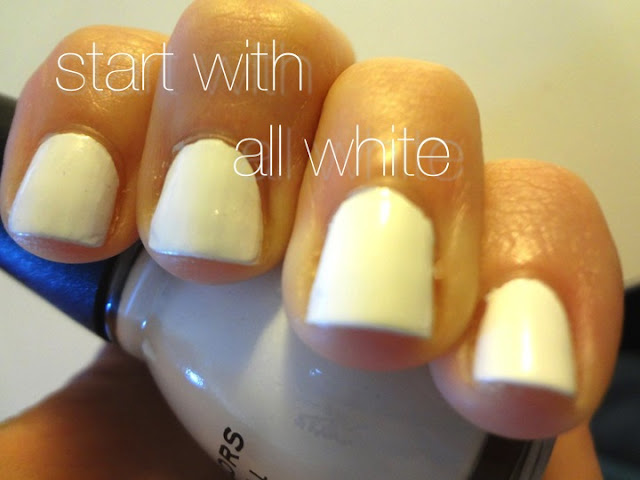 all white nails