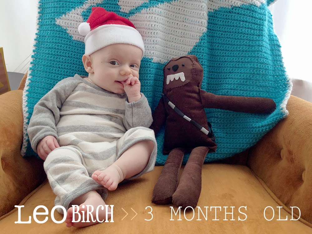 baby boy growth progress post for a blog. Three months old. via Oh, Hopscotch!