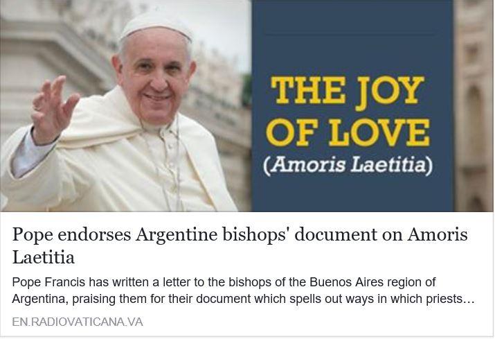 Radio Vaticana confirma la apostasia de Bergoglio.