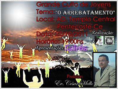 Culto de Jovens dia 22/10/2011