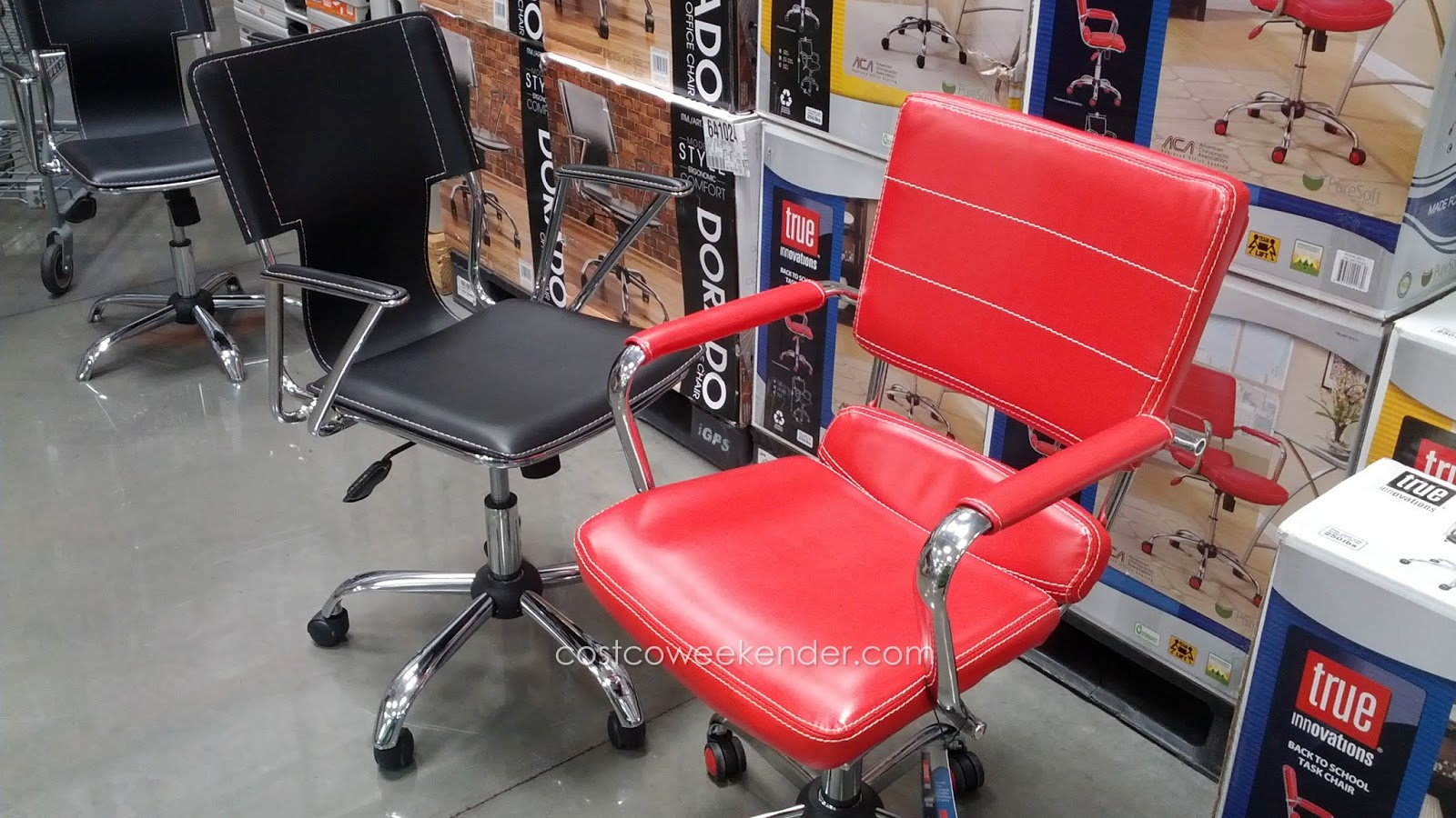 True Innovations Back To School Task Chair Comes In A Stylish Red Color