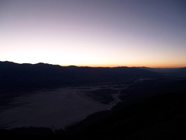 Vista del atardecer desde Dante's View en Death Valley National Park