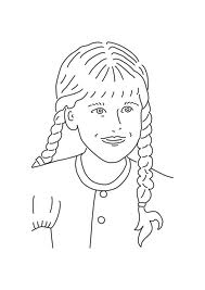 Girl Outline Line Drawing Painting Kindergarten Worksheet Guide