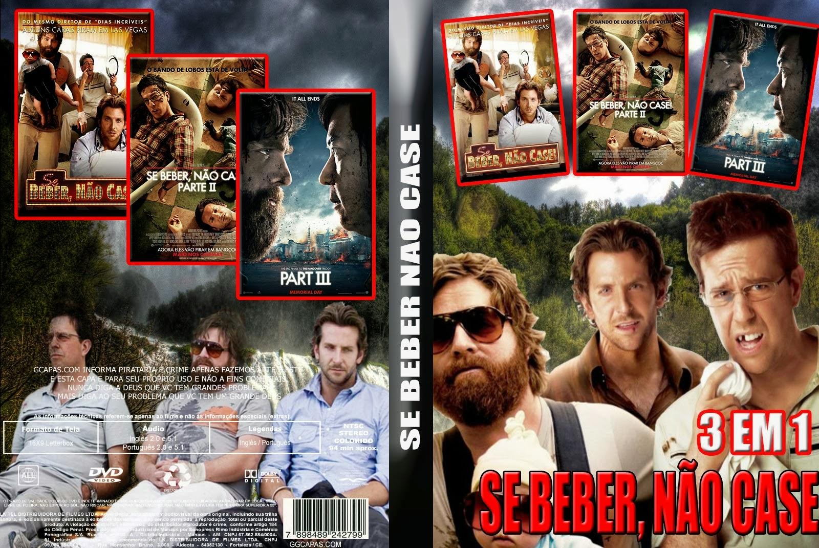 Trilogia Se beber não Case DVDRip 720p x264 Dublado SE BEBER NAO CASE 3 EM 1