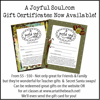 A Joyful Soul.com Gift Certificates now available!  Great gifts for family, friends, teacher gifts, Secret Santa swaps