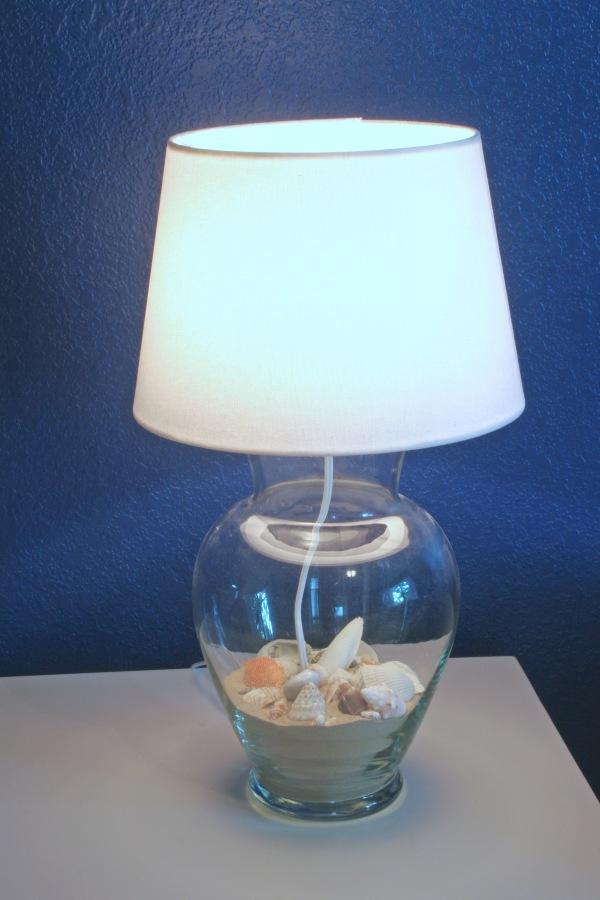 Lampara con jarron paso a paso - Como hacer una lampara de mesa ...