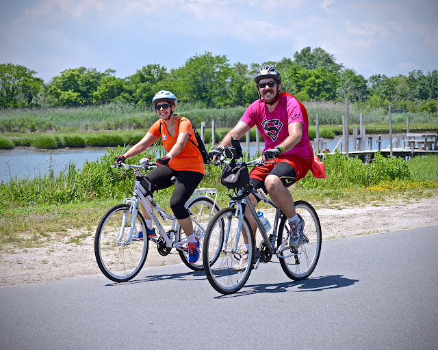 Endless Pools' Dustin Danesi and his wife Jackie in the American Cancer Society Bike-a-thon, June 2015.