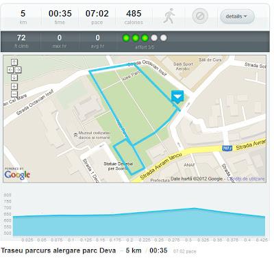 7 ture de alergat in parcul de la poalele Cetatii din Deva