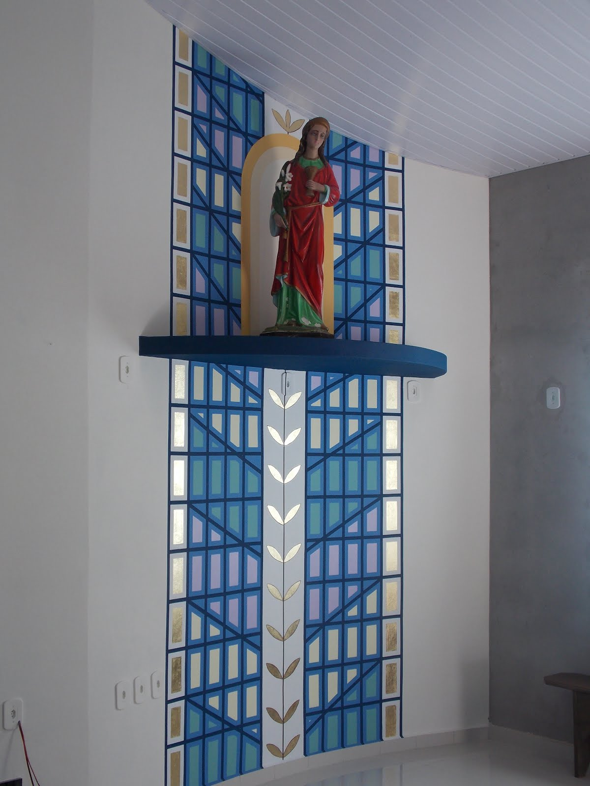 Detalhe do local da capela de Santa Luzia