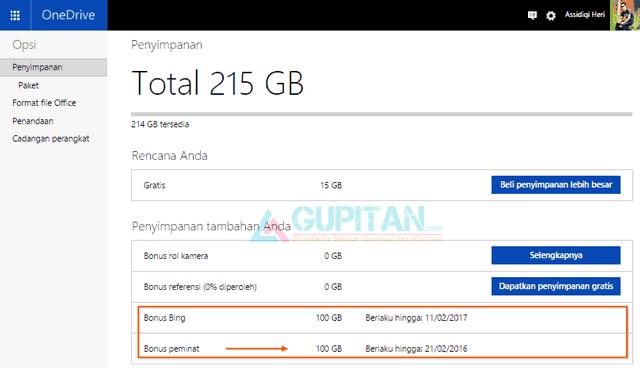Dapatkan 200GB Microsoft OneDrive Gratis