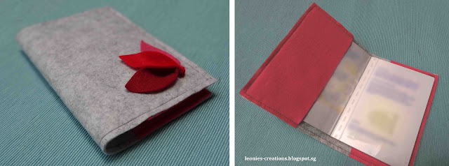 Leonie DIY creations crafts passport cover tulip tutorial felt pink