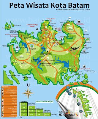 Peta Wisata Kota Batam