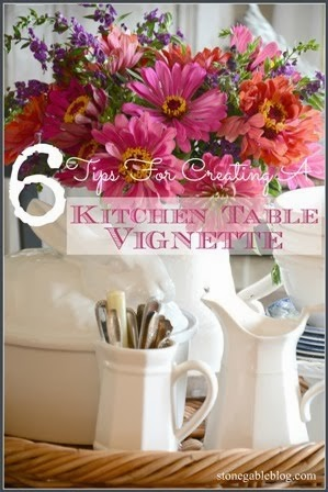 5 TIPS FOR CREATING A KITCHEN TABLE VIGNETTE