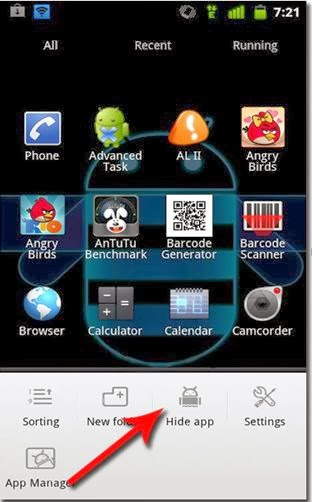Go Launcher EX app on Android