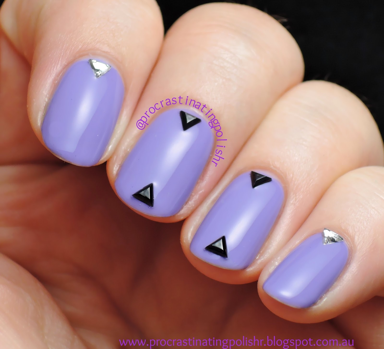 Nail art with Mckfresh Glowing Posies & Born Pretty triangle studs