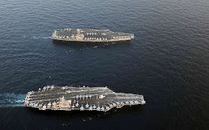 AIRCRAFT CARRIERS USS ABRAHAM LINCOLN AND USS JOHN C. STENNIS