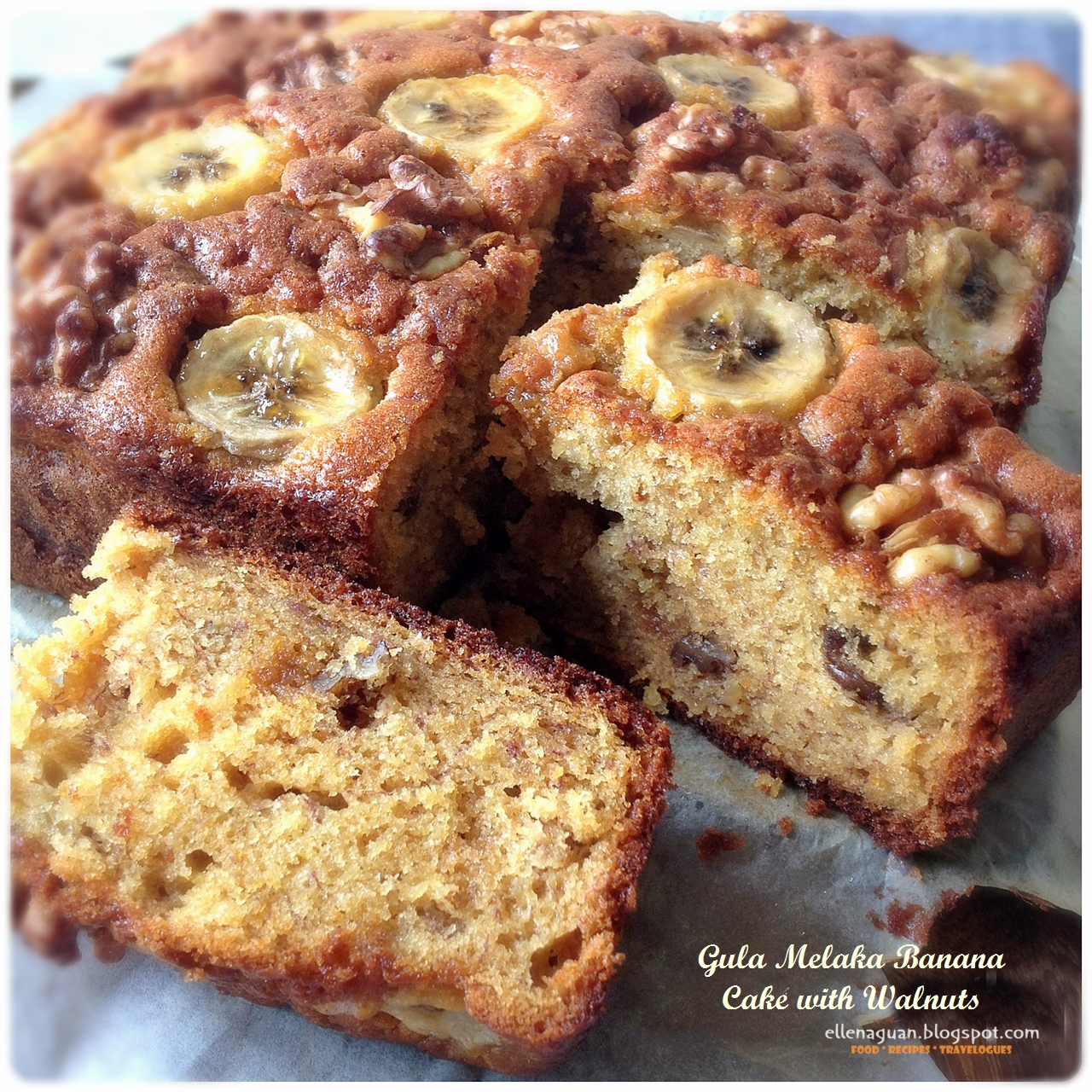 Recipe for banana and nut cake