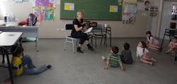 Con los chicos de la Escuela 262
