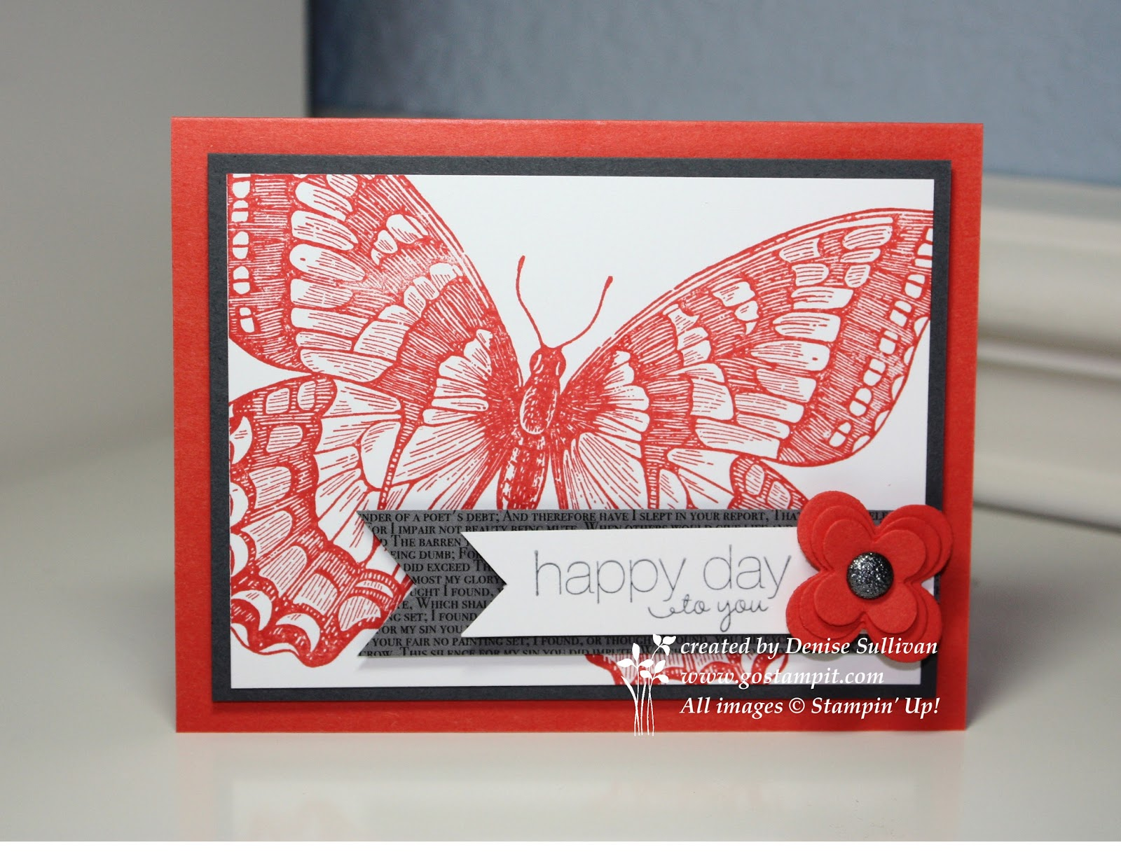Go Stamp It Swallowtail Card