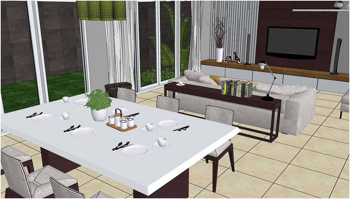 sketchup texture sketchup model dining room