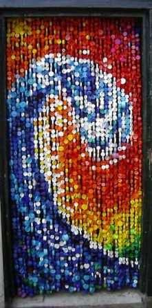 Aneka Ragam Tirai Dari Botol Plastik Bekas 4
