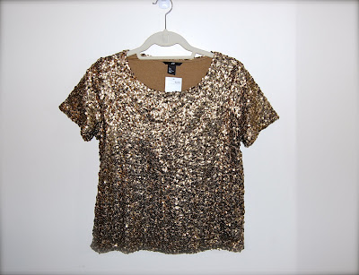 H&M Gold Sequin Top