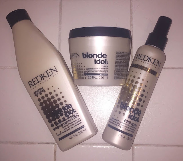 BeautyChickBests, top 10 best beauty products of 2014, Redken Blonde Idol Collection, shampoo, hair mask, Redken Blonde Idol BBB Spray, leave-in conditioner