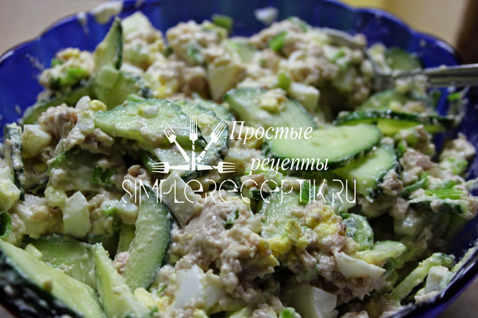 Салат из печени трески с огурцом пошаговый рецепт быстро и просто от 73