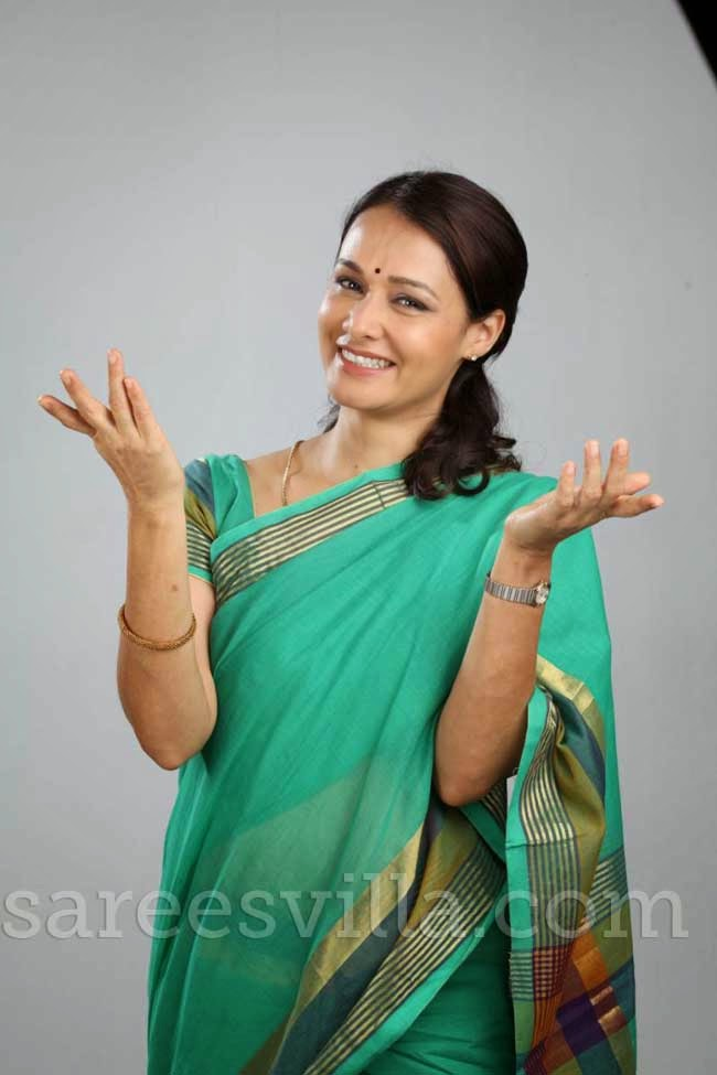 Actress Amala Akkineni In Chanderi Silk Saree