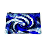 Mod Blue Swirl Coin Purse