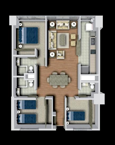 1000 images about planos de casas on pinterest floor for Departamentos decorados con plantas